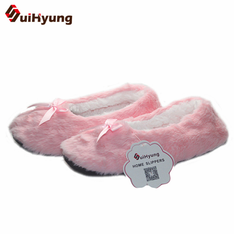 Suihyung women Winter Warm Soft Sole Plush Cotton-padded Shoes Coral Fleece Home Slippers Indoor Shoes Foot Warmer Floor Socks novelty cotton winter bow tie men slippers soft keep warm solid plush home grey brown indoor shoes with fur cotton padded shoes
