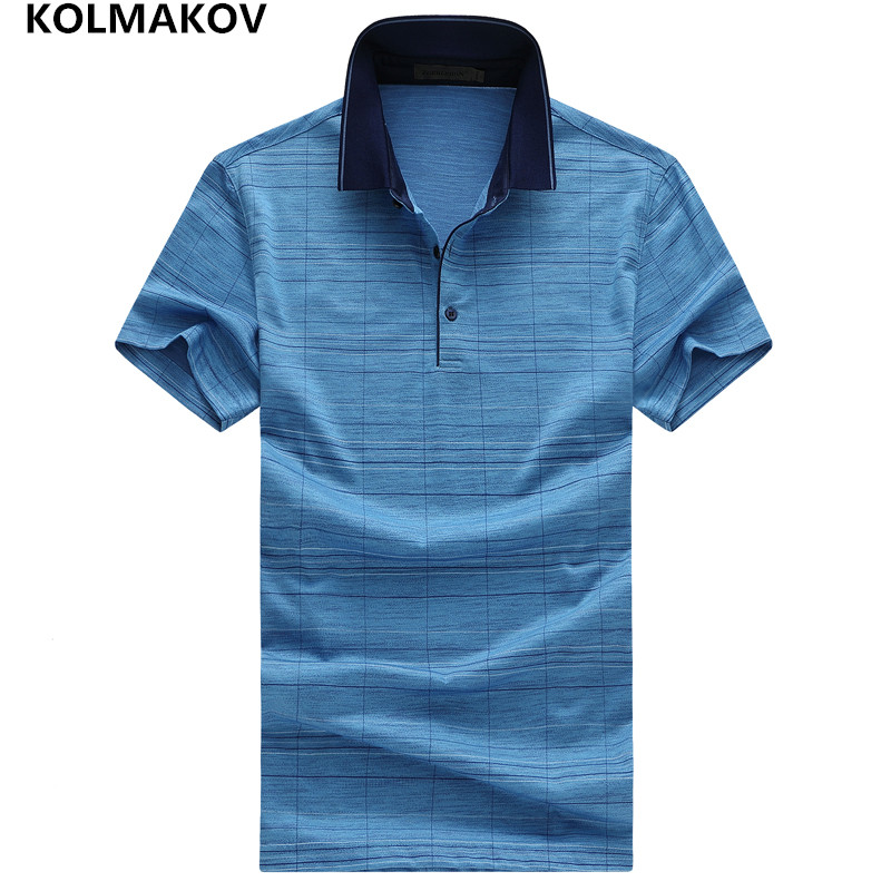 2019 KOLMAKOV Brand   Polo   Shirt Men Slim Fit Summer Short Sleeve   Polo   Shirts Masculina Cotton Stand Collar Poloshirt Sportsmen