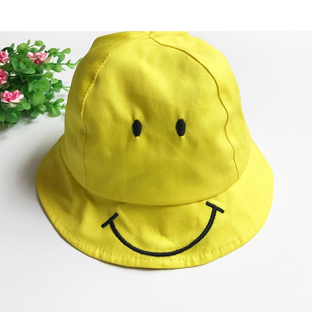 CHAMSGEND Baby Kids Cute Smiling Face Hat Boys Girls Spring Summer Sun  yellow Hat Fisherman Cap gift-in Hats   Caps from Mother   Kids on  Aliexpress.com ... 147001cf9233