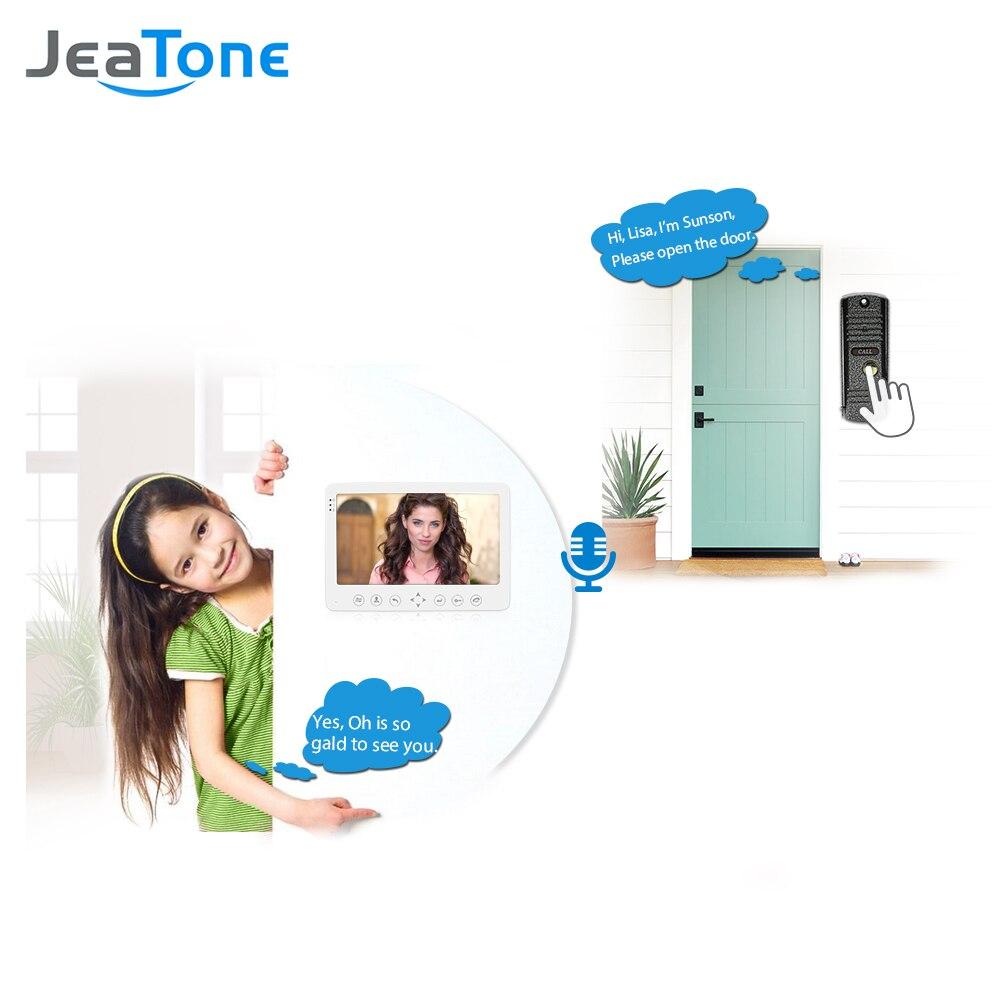 2*7 монитор видеодомофоны домофона безопасности Системы + Водонепроницаемый Открытый Камера дверной звонок многоязычное меню встроенный п...