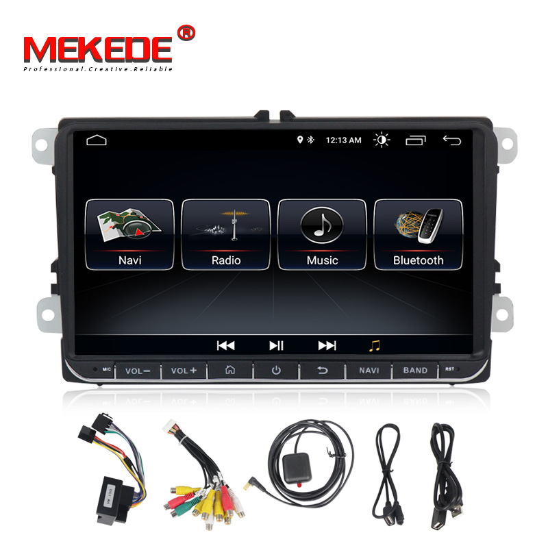 Lecteur multimédia de voiture Mekede 2 Din DVD de voiture pour VW/Volkswagen/Golf/Polo/Tiguan/Passat/b7/b6/SEAT/leon/Skoda/Octavia Radio GPS DAB