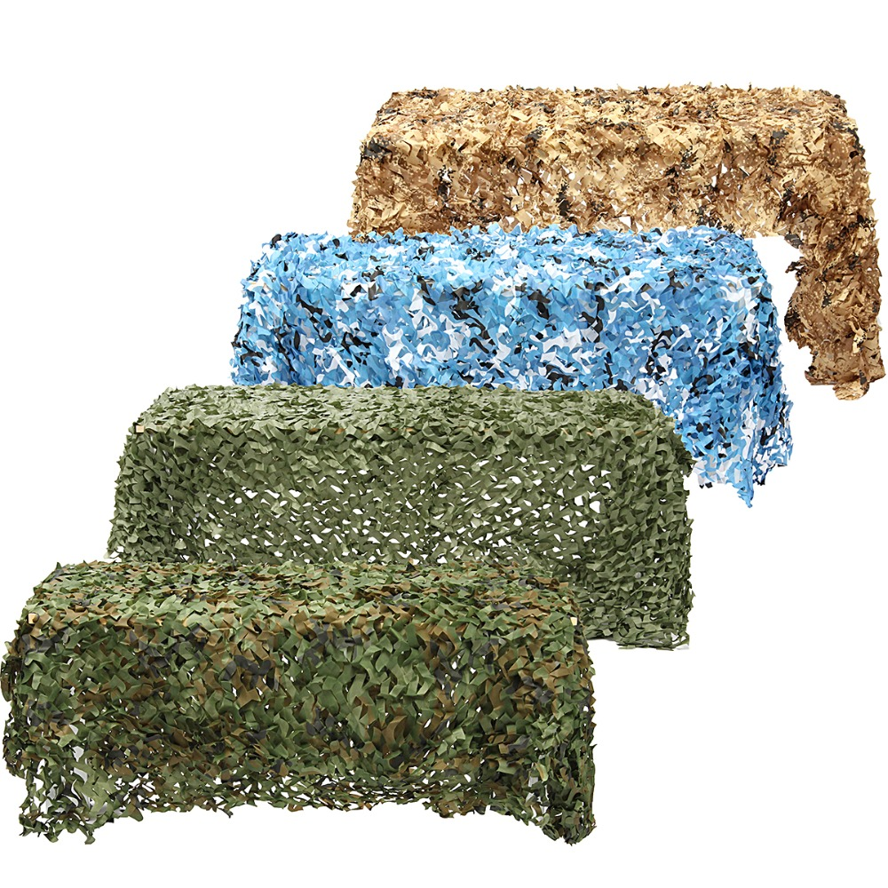 4m*2m Hunting Military Camouflage Net Woodland Army training Camo netting Car Covers Ten ...