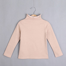 Children Clothes Girl Long Sleeve Cotton Turtleneck T shirts Kids Clothing Tops Basic Pocket T shirt