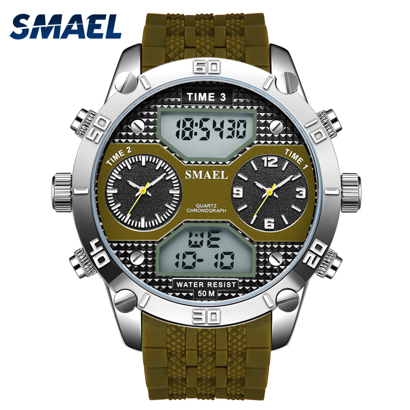 Military Watches army SMAEL Men Watch Digital LED Clock Waterproof Sport Watches Man 1210 Quartz wristwtaches Male Watch relogio smael 1708b