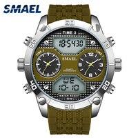 Relógios militares do exército smael men relógio digital led relógio esporte à prova dwaterproof água homem 1210 quartzo wristwtaches masculino relógio relogio|  -