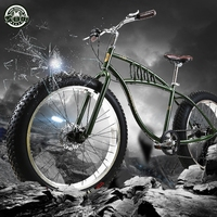 Freedom 26インチ7/21スピードスノーバイク4.0スーパーワイドタイヤマウンテンバイクレトロ男性と女