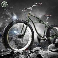 Speed Off Road Beach Snow Bike 4 0 Super Wide Tire Mountain Bike Retro Male And