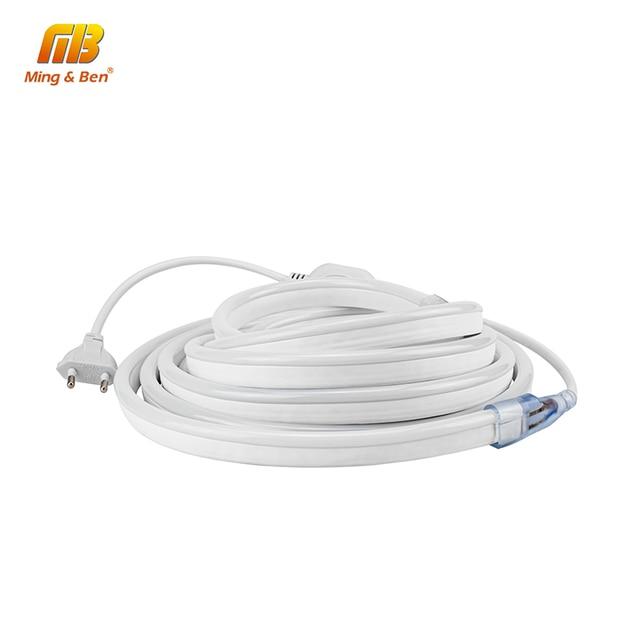 [MingBen] Led Neo de 2 M 3 M 4 M 5 M AC220V SMD2835 LED tira Flexible impermeable IP65 120 LEDs/m de alto brillo de luz de la decoración
