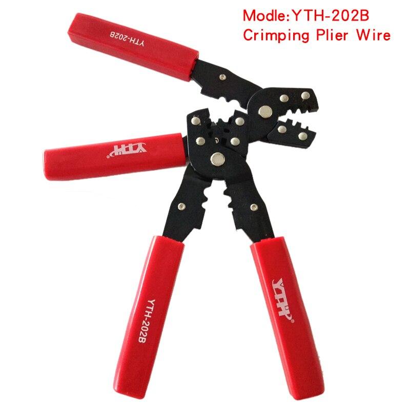 Radient 1 Stücke Freies Verschiffen 202b Berufs Praktische Draht Kabel Crimper Cutter Terminal Crimpen Drücken Zangen Hand Werkzeug Werkzeuge