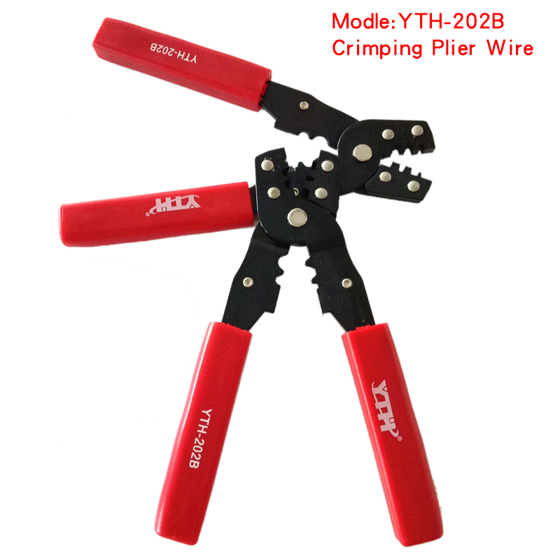 1pcs free shipping 202B Professional Practical Wire Cable Crimper Cutter Terminal Crimping Press Pliers Hand Tool professional hand tool wire tripper long float nose nanual wire tripper hot sale wire tripper free shipping