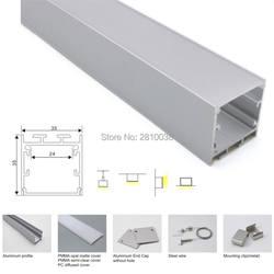 300X2 м комплектов/партия Большой типа U светодиодный алюминиевый канал корпус и офисного освещения профиль светодиодные полосы для