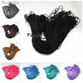 2mm; 100m/bundle Rock Climbing Ropes for Jewelry Making DIY Braided Bracelet Necklace Polyester & Polypropylene Paracord Black