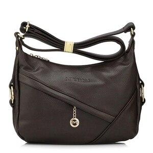 Image 3 - High Quality Retro Vintage Womens Genuine Leather Handbag,Women Leather Handbags ,Women Messenger Shoulder Bags Bolsas Feminina