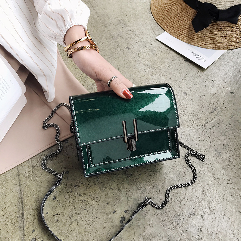 2018 Vintage Patent Leather Women Shoulder Bag Tote Flap Chain Ladies Crossbody Bags For Women Messenger Bags Bolsa Feminina 2018 hot sale cow leather women handle bags crossbody bag car structure flap bags bolsa feminina shoulder crossbody small bag