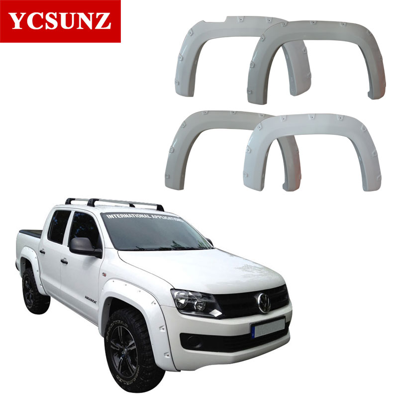 2009-2014 Fender Flares For Vw Accessories Black Mudguards For Volkswagen Amarok 2010 2011 2012 2013 flare exterior parts YCSUNZ motorcycle accessories carbon fiber rear fender mudguards fender hugger for bmw s1000rr 2009 2017 2010 2011 2012 2013 2014 2015