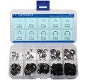 120 Unids Acero Al Carbono Surtido E-clip Kit 1.5 2 3 4 5 6 7 8 9 10mm anillo de seguridad