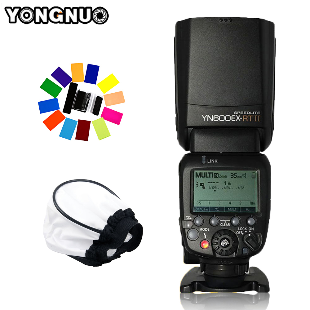 <font><b>YONGNUO</b></font> YN600EX-<font><b>RT</b></font> II 2.4G Wireless Camera Speedlight 1/8000s HSS GN60 Master TTL Flash <font><b>Speedlite</b></font> for Canon as <font><b>600EX</b></font>-<font><b>RT</b></font>/<font><b>YN</b></font>-E3-<font><b>RT</b></font> image