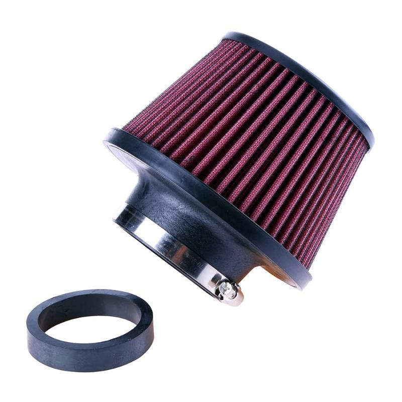 Universal Auto car Intake Air Filter Car Refitting High Flow Cone Filter Cold 65/76 mm Air Intake Car-styling Accessories esveva 2018 women boots sweet style zippers square high heels pointed toe ankle boots chunky short plush ladies shoes size 34 39