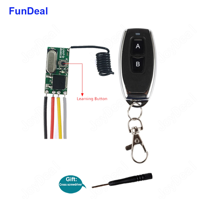 433 Mhz Wireless Rf Remote Control Switch Long Range Mini Receiver 3.6v 6v 12v 24v & 433mhz Transmitter For Led Light Controller Products Hot Sale