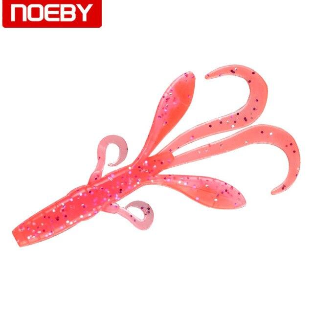 NOEBY 9,5 cm 5g señuelo suave gusano Pesca de goma de silicona señuelo de Pesca 6 piezas S3122