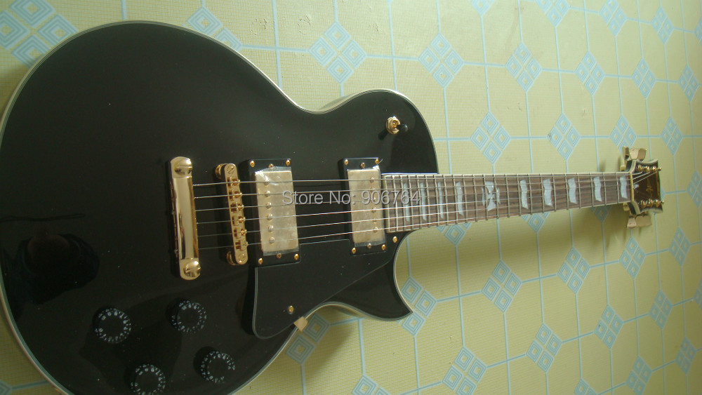 new ES P Eclipse black CUSTOM SHOP Metallica James Hetfield Iron Cross Aged electric guitar free shipping