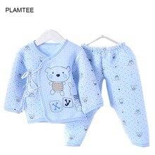 Новинка года, весенние комплекты для малышей хлопковые детские костюмы для маленьких мальчиков и девочек кружевная одежда для малышей Одежда для новорожденных и малышей 3 цвета