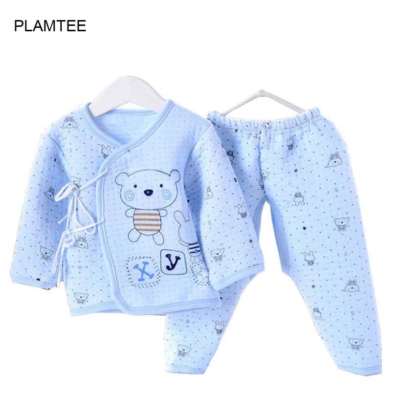 New 2016 Baby Set Cotton Children Baby Boys Girls Clothes Lace Baby Clothes Newborn / Baby Clothing 3 Colors