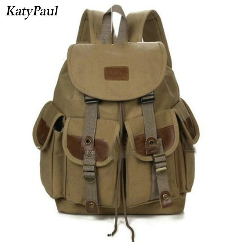 Canvas Backpack Male Travel Military Backpack  Package Man Baohu Outsourcing School Bags