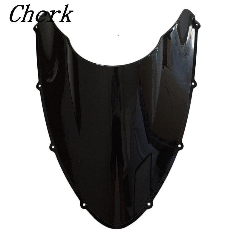 Новый черный лобовое стекло мотоцикла двойной пузырь для DUCATI 848 1098 1198
