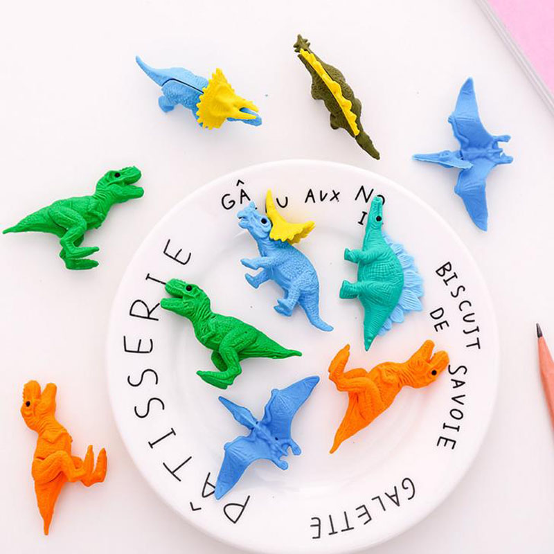 5pcs/pack Mini Rubber Eraser Cute Dinosaur Eraser School Stationery Office Supplies School Supplies Bts Stationery Gift Tool Correction Supplies