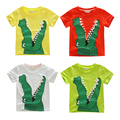 4-9Years 2015 New Arrival Children Boys Clothes Summer High Quality Crocodile Head Print Short Sleeve Cotton Top Boys T-Shirt
