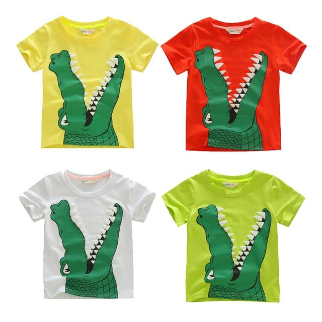 e91128be86ea4 4-9Years 2015 Nouvelle Arrivée Enfants Garçons Vêtements D été de Haute  Qualité Crocodile