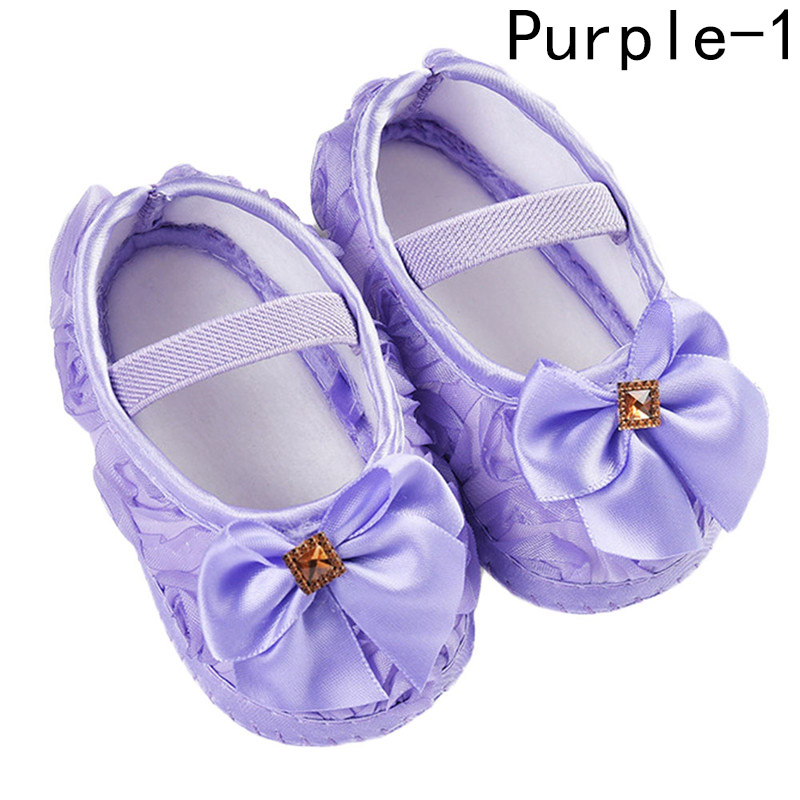Baby Girls Kid Floral Crib Shoes Toddler Shoes Cute Cartoon Soft Sole Breathable Toddler Shoes