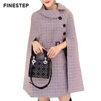 Повседневное Для женщин плащ пальто Для женщин s зимние Роскошные пальто Для женщин дизайнеры плед пальто Для женщин 2018