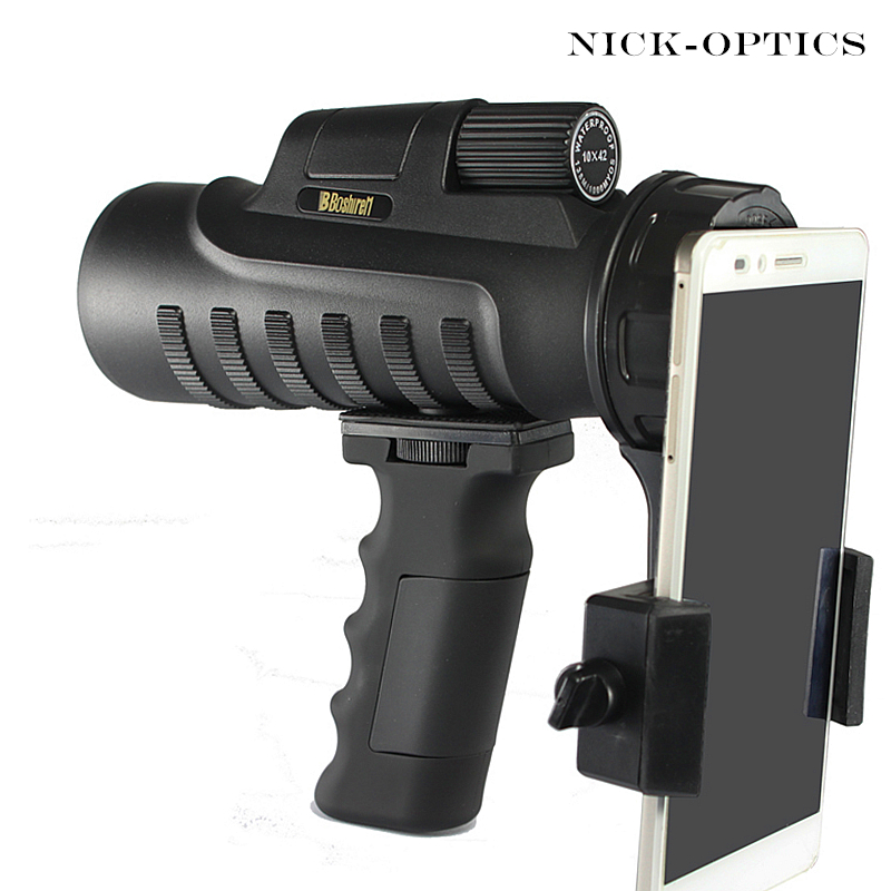 BOSHIREN 10X42 Telescope Powerful Hunting Monocular hd High quality Big Vision for Bird Watching Waterproof monocular