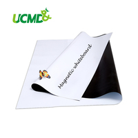 Flexible Magnetic Whiteboard Labels With Gloss White Dry Erase Writing Board Sticker 100 X 60 CM