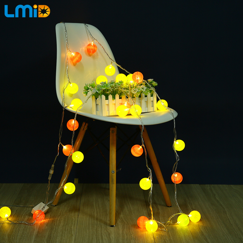 LMID Outdoor Ball LED Fairy String Lights 5M 30LED Christmas Lamp Home Holiday Wedding Party Decoration Patio Light AC 220V 110V