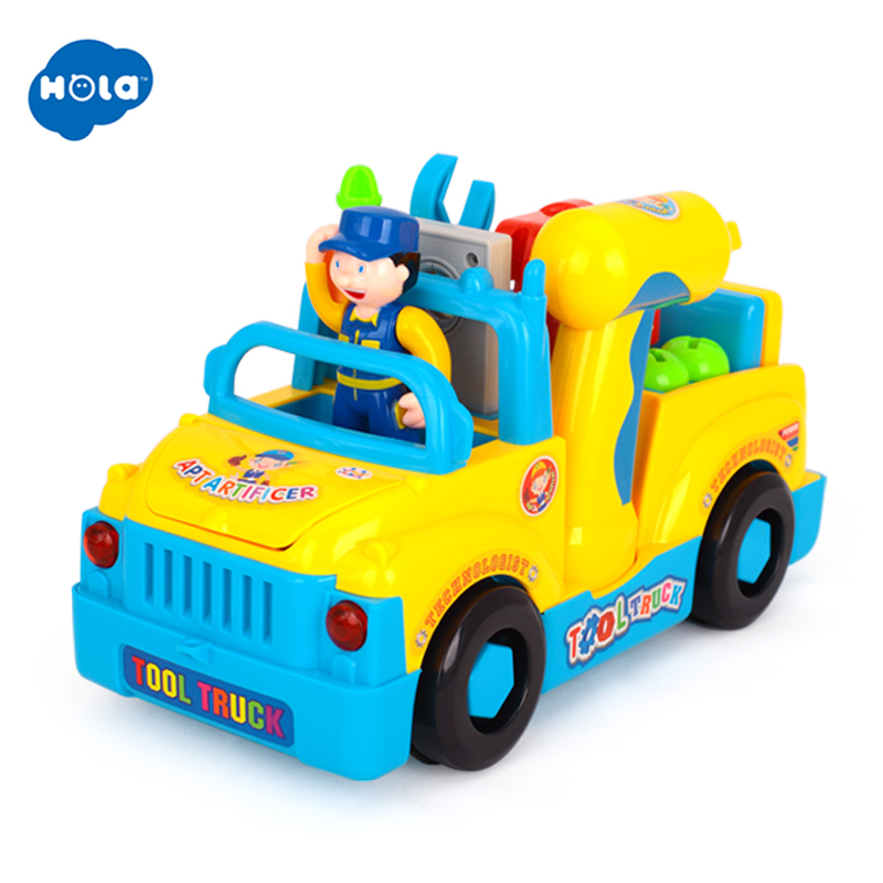 Eletctric Toys Multifunctional Tool Car Toy Disassemble Vehicle Kids Early Learning Educational Toys for Children 36