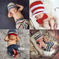 Hot!Baby Photo Prop Handmade Knitting Soft Hat Pants Set Baby Clothing Accessories For 0-6 Months Newborn Baby Photography Props