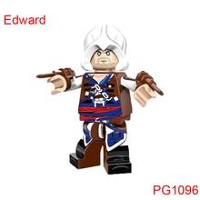 Building Blocks Single Sale Assassin'S Creed Iii Edward Figures Diy Model Bricks Children Hobbies Toys Gift Pg1096