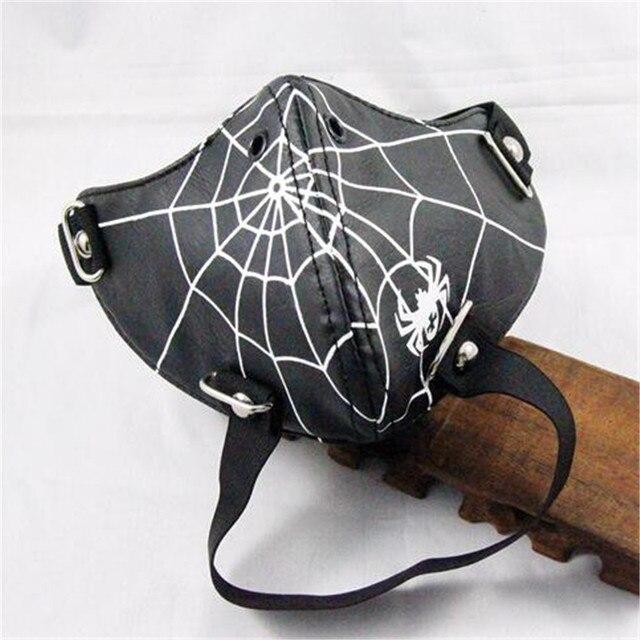Горячее предложение хипстеры show альтернатива Человек-паук Костюмы для косплея Интимные аксессуары заклепки маска Человек Необычные Хэллоуин мотоцикл маска 1