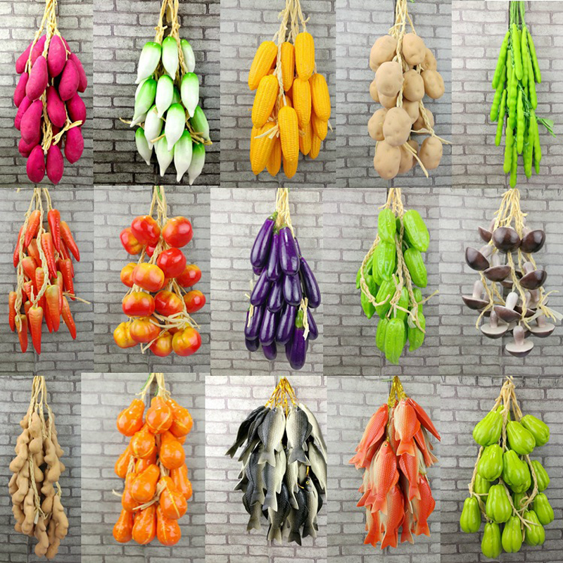 Simulation Fruit and Vegetable DIY Festive Supplies Artificial Decor For Restaurant Kitchen Home Wall Hanging Decoration Fake