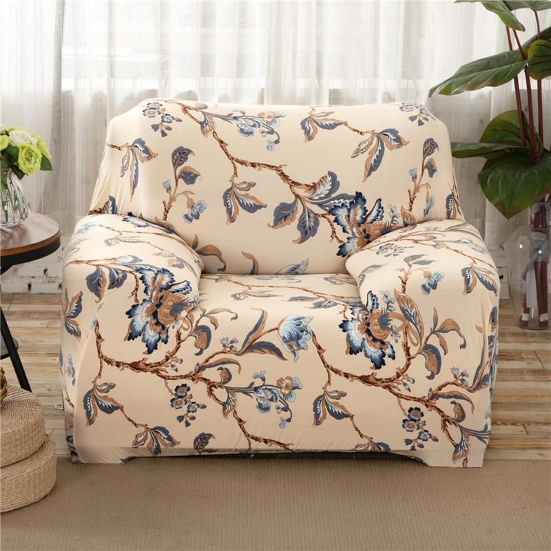 Sunnyrain бежевый полиэстер эластичные Чехлы для диванов с цветочным принтом Чехлы для диванов для секционная чехол диване крышка Капа Para диван
