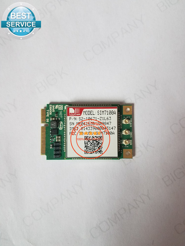 ФОТО  JINYUSHI FOR  SIM7100A Mini PCIE 4G 100% New&Original  TDD-LTE/FDD-LTE/WCDMA  Embedded quad-band module
