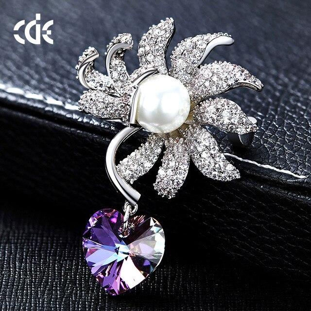 2019 Neue Europäischen Und Amerikanischen Perle Brosche Kristall Element Frauen Kleidung Brosche Modische Und Attraktive Pakete