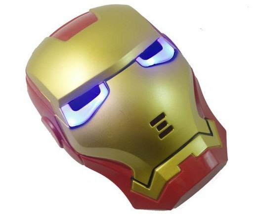 Iron Man Masquerade Mask With Glowing Led Light