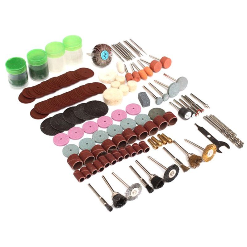 161pc Rotary Tool Accessory Attachment Set Kit Grinding Sanding Polishing Sander Abrasive Wood Drill For Dremel Electric Grinder