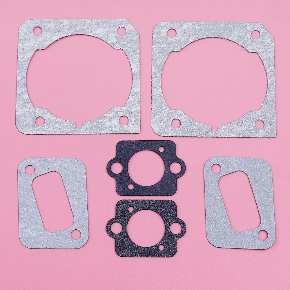 Cylinder Muffler Carburetor Gasket Set For Husqvarna 340 345 350 346XP Garden Tool Chainsaw Replacement Spare Part