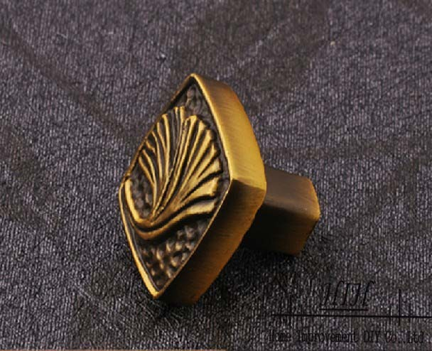 30 X Cabinet Handles Red Bronze Furniture Knobs Coupboard Pulls Square With Leaf Free Shipping