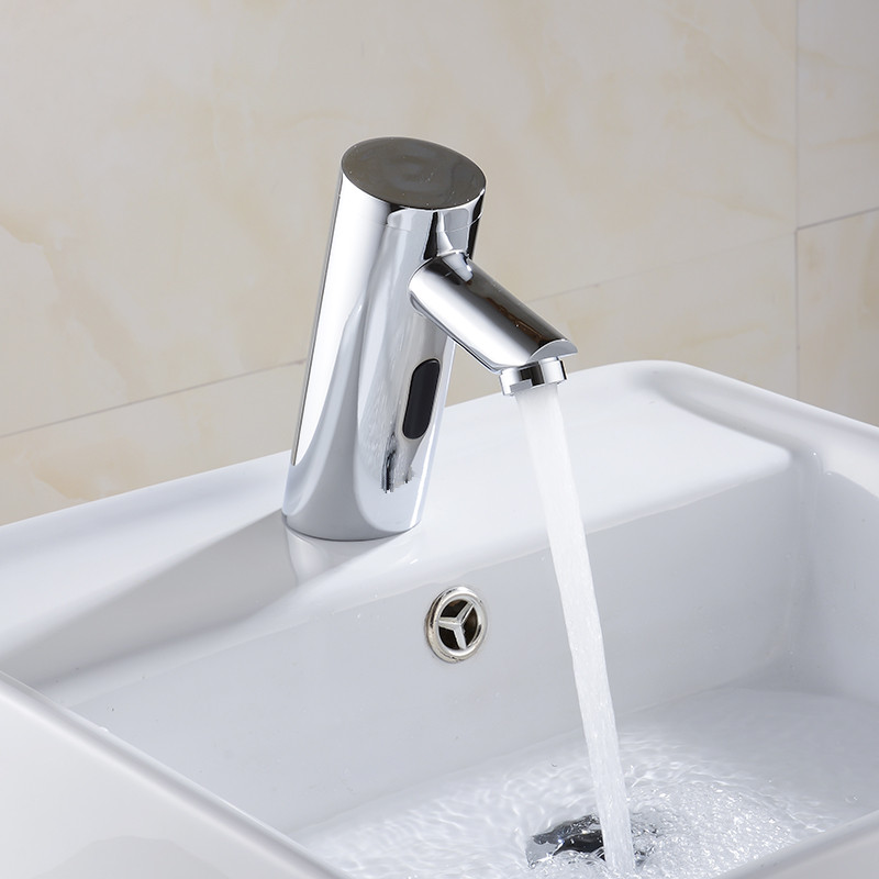 16cm Washroom Automatic Sensor Faucets Brass Chrome Finishing Sink ...